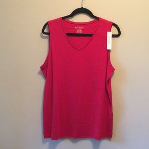 Chico's Red Tank Top NWT - Size 3